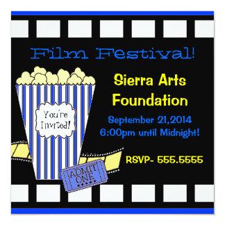 Festival de cinema convite quadrado 13.35 x 13.35cm