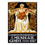 Festival de música do International 1927 Cartão De Nota