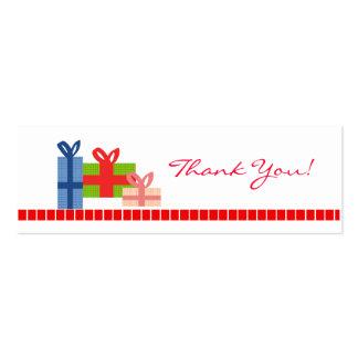 Festivo - cartões de agradecimentos cartão de visita skinny