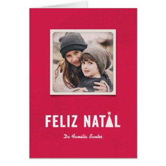 Festivo faz natal cartão comemorativo