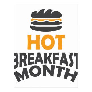 Fevereiro - mês quente do pequeno almoço - dia da cartão postal
