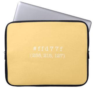 #ffd77f 15' a bolsa de laptop (texto branco) capa para notebook