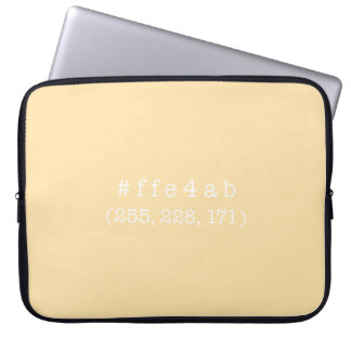 #ffe4ab 15' a bolsa de laptop (branca) capas para laptop