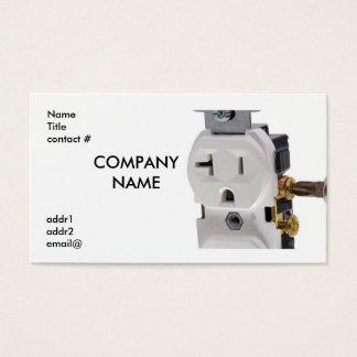 fiação elétrica da tomada de parede cartão de visitas