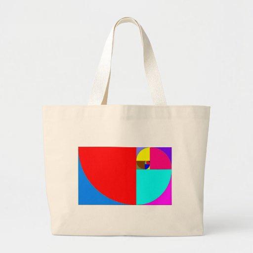 fibonacci espiral bolsas para compras