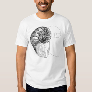 fibonacci spiral t-shirts