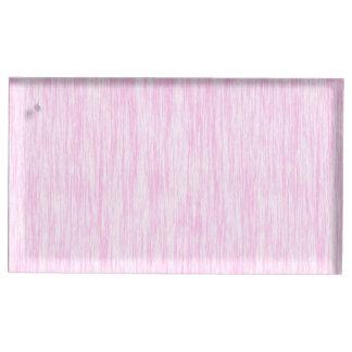 Fibra cor-de-rosa suporte para cartão de mesa