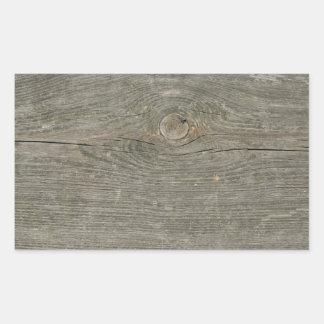 fibra de madeira velha do nó da textura do adesivo retangular