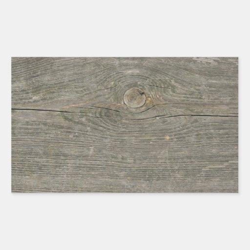 fibra de madeira velha do nó da textura do adesivos retangular