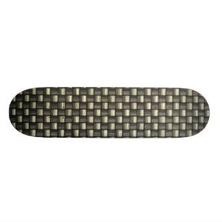 Fibra do carbono (falso) shape de skate 21,6cm