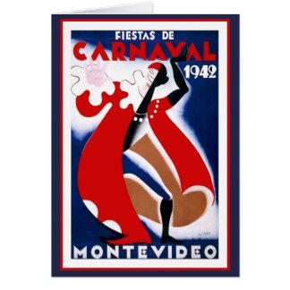 Fiestats De Carnaval 1942 Cartão