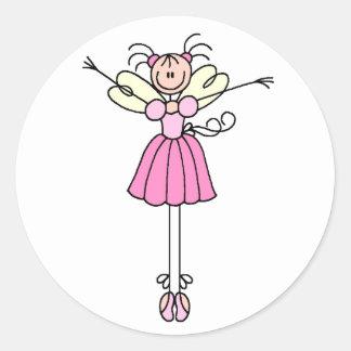 Figura bonito etiqueta da vara da bailarina adesivo