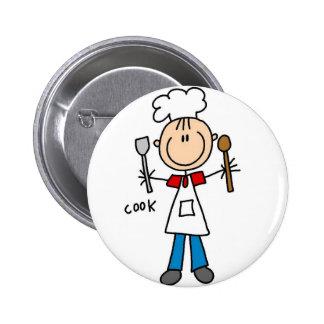 Figura botão da vara do cozinheiro bóton redondo 5.08cm