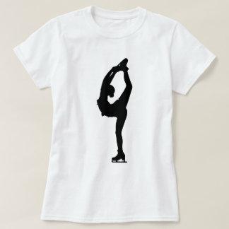 Figura camisa da menina do patinador