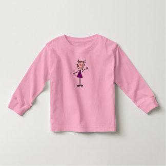 Figura camisa da vara da menina