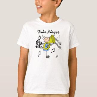 Figura camisa da vara do jogador da tuba