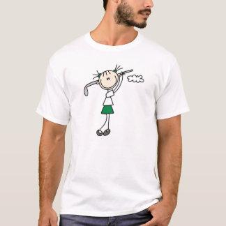 Figura camisa da vara do jogador de golfe
