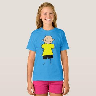 Figura camisa da vara do menino do smiley do