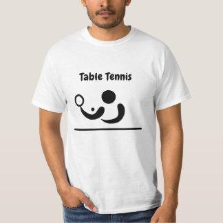Figura camisa da vara do ténis de mesa de T