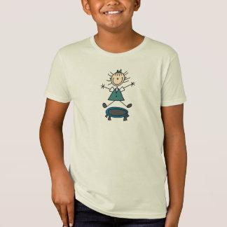 Figura camisa da vara do trampolim