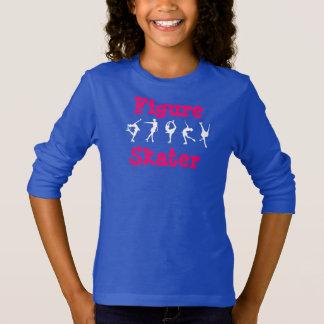 Figura camisa das meninas do patinador com