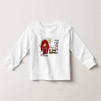 Figura camiseta e presentes da vara dos animais de