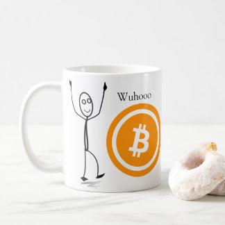 Figura caneca de café | da vara de Bitcoin