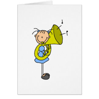 Figura cartão da vara da tuba