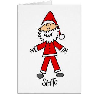 Figura cartão da vara de Papai Noel