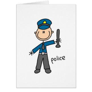Figura cartão da vara do agente da polícia