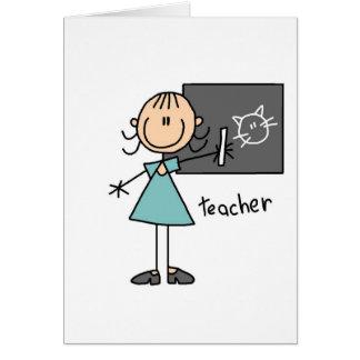 Figura cartão da vara do professor