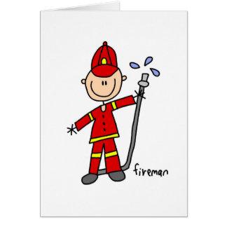 Figura cartão da vara do sapador-bombeiro
