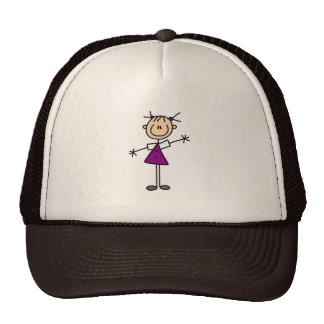 Figura chapéu da vara da menina boné