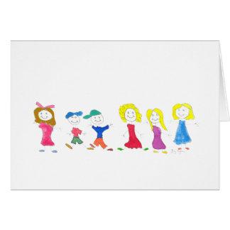 Figura crianças da vara 2 cartões