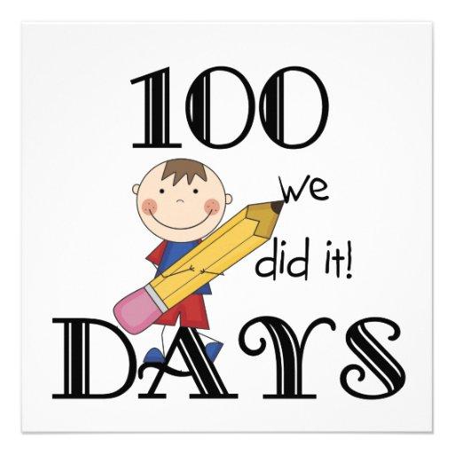 Figura da vara 100 dias convites personalizados