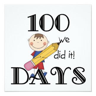 Figura da vara 100 dias convite quadrado 13.35 x 13.35cm