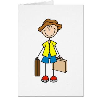 Figura da vara com cartão da bagagem