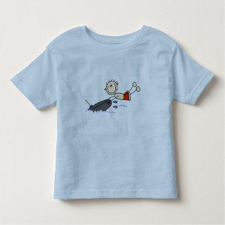 Figura da vara da tubulação camiseta infantil