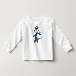 Figura da vara do agente da polícia camiseta infantil