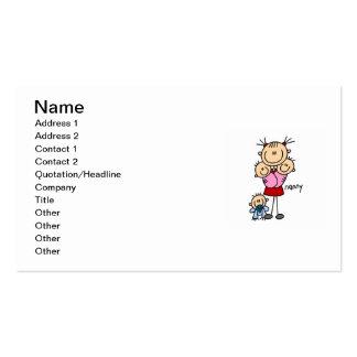 Figura da vara do baby-sitter cartão de visita