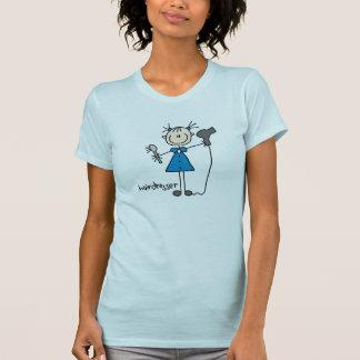 Figura da vara do cabeleireiro t-shirts