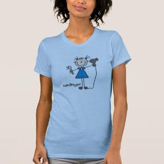 Figura da vara do cabeleireiro t-shirt