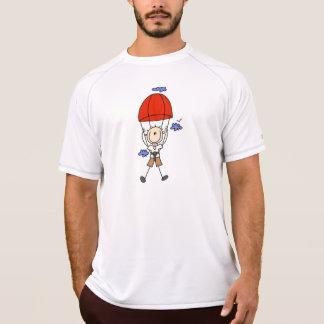 Figura da vara do mergulho de céu camiseta