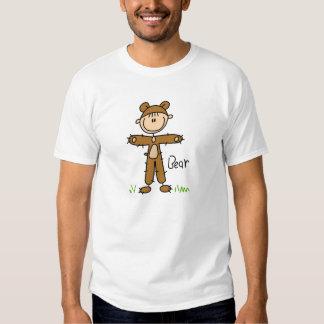 Figura da vara na camisa do terno do urso t-shirt