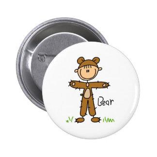 Figura da vara no botão do terno do urso bóton redondo 5.08cm
