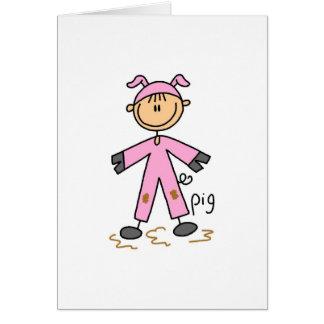 Figura da vara no cartão do terno do porco