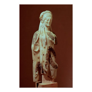 Figura de Kore, c.510 BC Pôster