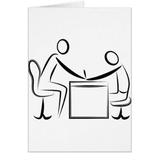 Figura desenho da vara do Manicure Cartão Comemorativo