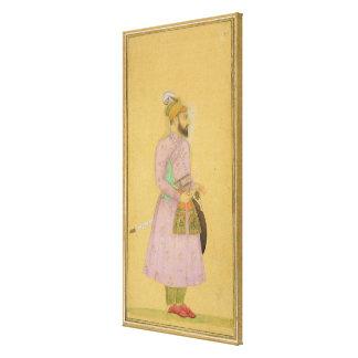 Figura ereta de um príncipe de Mughal, do pequeno Impressão Em Tela Canvas