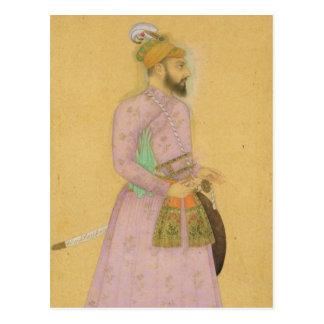 Figura ereta de um príncipe de Mughal, do pequeno Cartao Postal